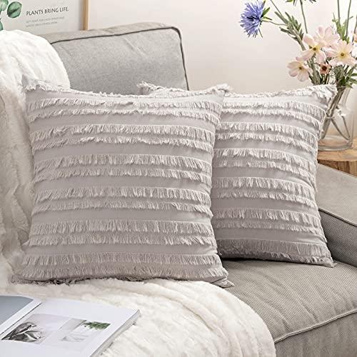 cuscino divano moderno MIULEE 2 Pezzi Copricuscini Federe per Cuscino Decorativo Decorazioni Pelose Federa Morbido per Divano Casa Moderna Ufficio e Balcone