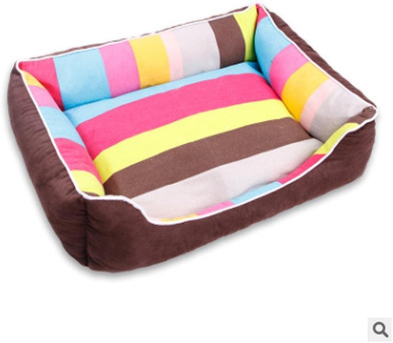 BiuTeFang Pet Bolster Dog Bed Comfort Cloth Pet Litter Dog bed dog mat breathable removable washable