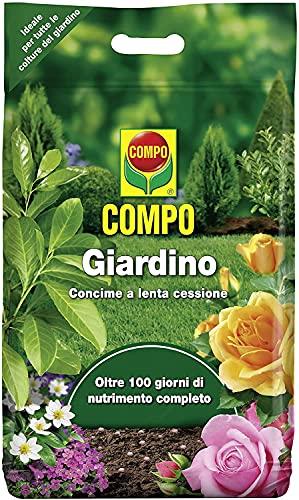 COMPO Giardino Concime a Lenta Cessione, Per tutte le colture del giardino, Oltre 100 Giorni di nutrimento, 4 kg
