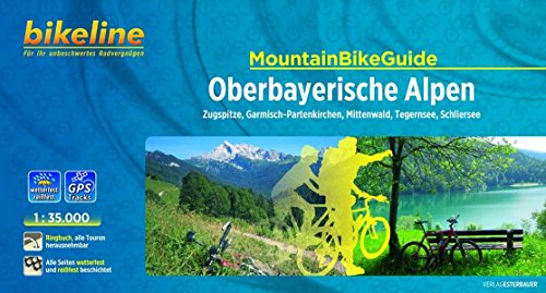 bikeline MountainbikeGuide Oberbayerische Alpen: Zugspitze, Garmisch-Partenkirchen, Mittenwald, Tegernsee, Schliersee. 1:35.000, wetterfest/reißfest, alle Touren herausnehmbar, GPS-Tracks Download