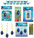 Unique Industries Inc Finding Dory Finding Nemo Birthday Party Supplies Decoration Bundle includes Happy Birthday Banner, Hanging Decorations, Party Door Poster