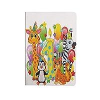 1歳の誕生日の装飾 人気 ipad air4 2020ケース ipad 10.9インチ カバー 赤ちゃんサファリ動物ゼブラライオンバルーン背景 手帳型 ブック型 おしゃれ PUレザー 軽量 角度調節可 多色の子供パーティー