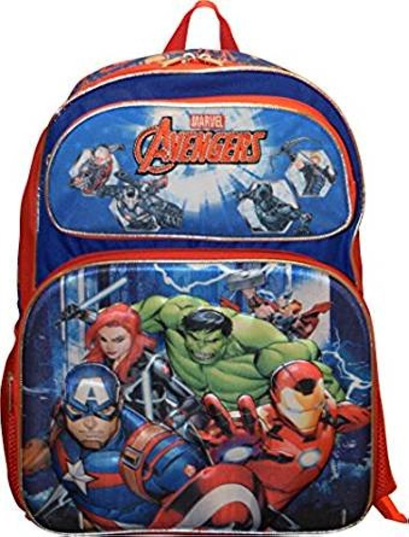 Backpack  Marvel  Avengers Red bluee 3D PopUp 16  School Bag 695071