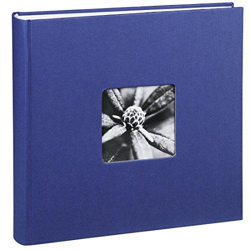 Hama Fotoalbum Jumbo 30x30 cm (Fotobuch mit 100 weißen Seiten, Album für 400 Fotos zum Selbstgestalten und Einkleben) blau