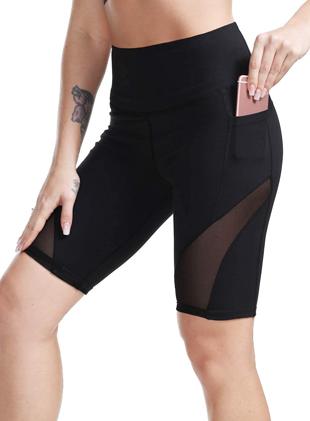 DILANNI Women's High Waist Workout Shorts Side with 2021new Excellent shipping free Yoga Pocket