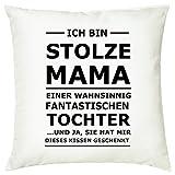 creativgravur Deko Fotokissen Stolzer Papa, Opa, Stolze Mama, Oma Zierkissen, Kissen:Kissen mit...