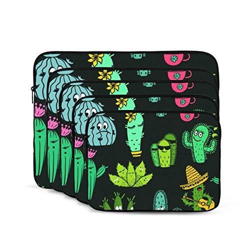 Cacti Laptop Sleeve, Shock Resistant Notebook Briefcase, Tablet Carrying Case for MacBook Pro/MacBook Air/Asus/Dell/Lenovo/Hp/Samsung 15 inch