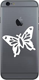 Christian Butterfly Silhouette Vinyl Cell Phone Decal for the iPhone or Android (WHITE 2