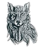 GT Graphics Tribal Wolf Design - 8' Vinyl Sticker - for Car Laptop I-Pad - Waterproof Decal