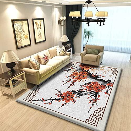 Moderner Retro Bedruckter Teppich Modische Dicke rutschfeste Waschbare Bodenmatte Geeignet Für Schlafzimmer Wohnzimmer Flur