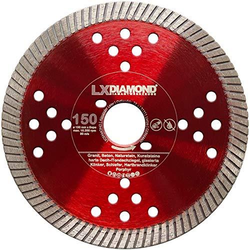 LXDIAMOND Disco de corte de diamante de 150 mm para hormigón, mampostería, universal, apto para Bepo FFS 150 151, fresadora de montaje, fresadora de ventana de 150 mm