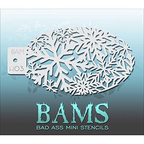 Bad ASS Winter Sparkle Mini Pochoir Bamh03