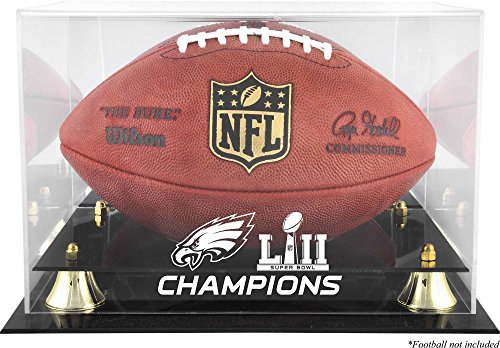 Philadelphia Eagles Super Bowl LII Champions Golden Classic Football Logo Display Case - Football Logo Display Cases