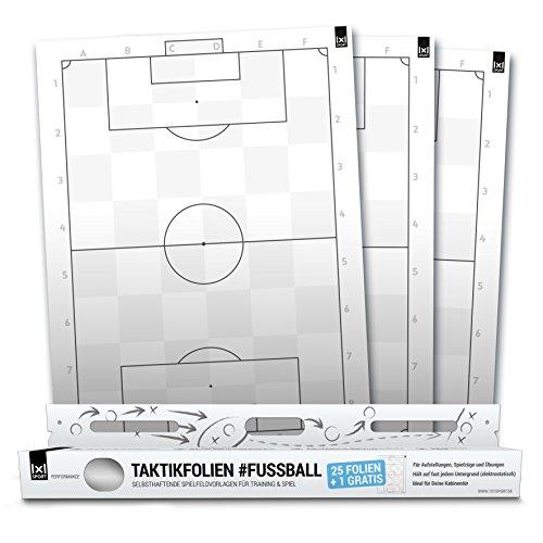 1x1SPORT Taktikfolie #Fussball - Spielfeldfolien für Aufstellungen, Spielzüge und Übungen - Dein mobiles Taktikboard