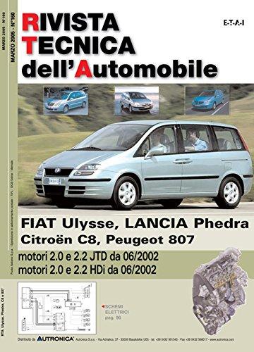 Peugeot/Citroen/Fiat/Lancia 807/C8/Ulysse/Phedra 2.0-2.2 JTD-HDi (Rivista tecnica dell'automobile)