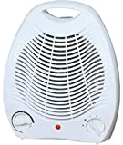 Bomann HL 1096 CB Calefactor, 2 Niveles de Temperatura, función Ventilador 2000 W, Blanco