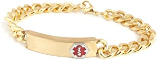 Medilog Medical Alert Bracelet in Gold Tone