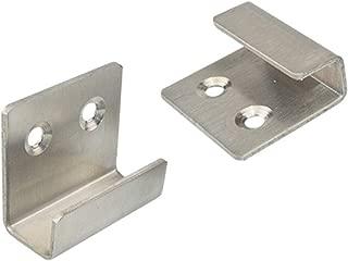 Bigsweety 5pcs Screw in U Shaped Fixed Hook Stainless Steel Flat J Hooks Bracket Hanger Billboard Display Board Rack Holder (#3)