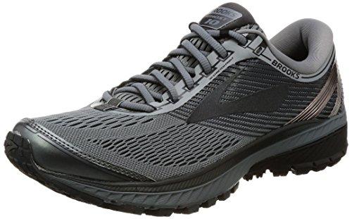 Brooks Mens Ghost 10 Running Shoe Primer Grey/Metallic Charcoal/Ebony 9.5 D(M) US