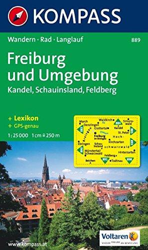 Freiburg und Umgebung: Kandel. Schauinsland. Feldberg. Wander-, Bike-, Reitwege- und Skitourenkarte. Mit Stadtplan. 1:25.000. GPS-genau
