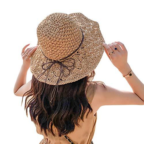 帽子 レディース 麦わら帽子 ハット ストローハット レディース 日焼け uvカット 日除け帽子 小顔効果 つば広 春夏 大きいサイズ