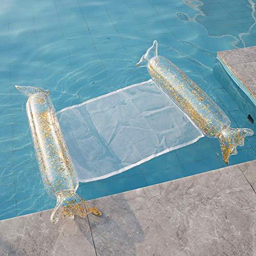 LEESITEC Sillón hinchable para piscina para adultos, para exteriores, para exteriores, con lentejuelas