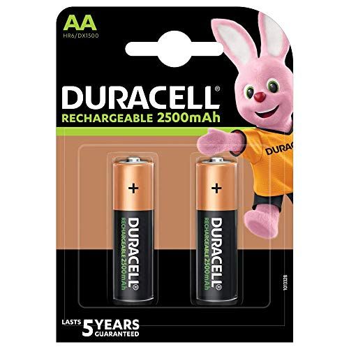 Duracell Recharge Ultra AA 2500 mAh Piles Rechargeable x2
