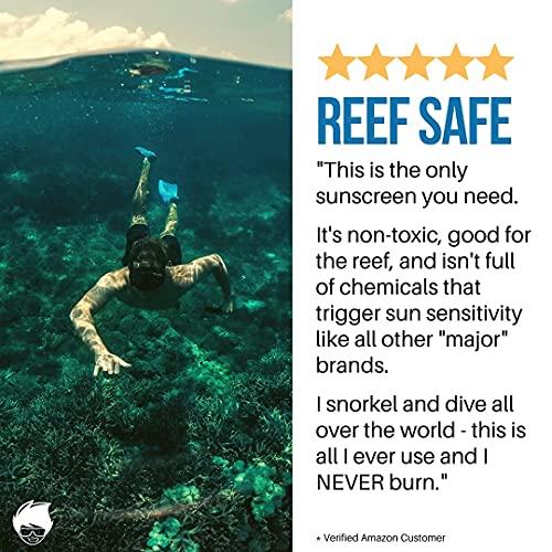 Waxhead HUGE Zinc Stick - Sunscreen Reef Safe, Sunscreen Tattoo, Surfer Sunscreen Hawaii, Zinc Oxide Sunscreen, Gentle for Babies and Tough for Sports (3.7oz)
