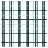 VIENDADPOW Zaunfelder 2D Gartenzaun-Elemente 2,008x2,03 m Gesamtlänge 6 m Grün