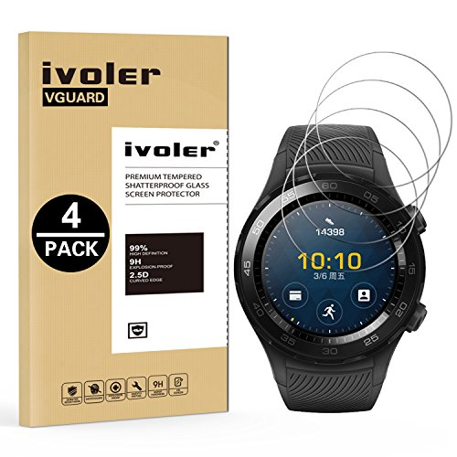 ivoler [4 Pack] Pellicola Vetro Temperato per Huawei Watch 2 [Garanzia a...
