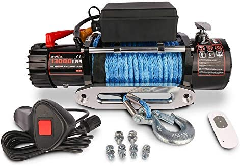 X BULL Synthetic Rope Winch 13000 lb Load Capacity product image