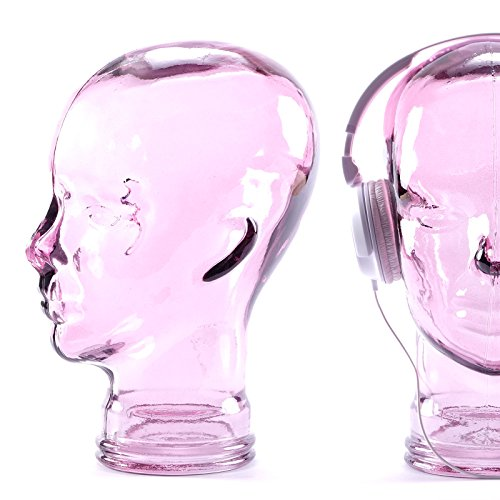 Kare Deko Kopf Glas in versch. Farben, Farbe:lila