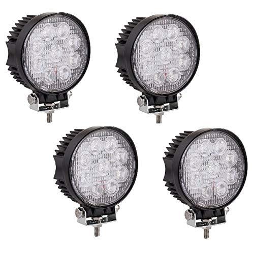 4 X 27W LED arbeitsscheinwerfer Offroad 12V 24V Runde Scheinwerfer Weiß 6500K Arbeitslicht Flutlicht für SUV UTV ATV Arbeitslampe