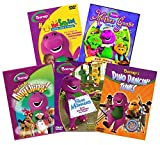 Ultimate Barney 5-Movie Learning DVD + CD: You Can Be Anything/Best Manners/Dino Dancin' Tunes/Happy Mad Silly Sad/Mother Goose Collection [PBS Kids Educational Set]