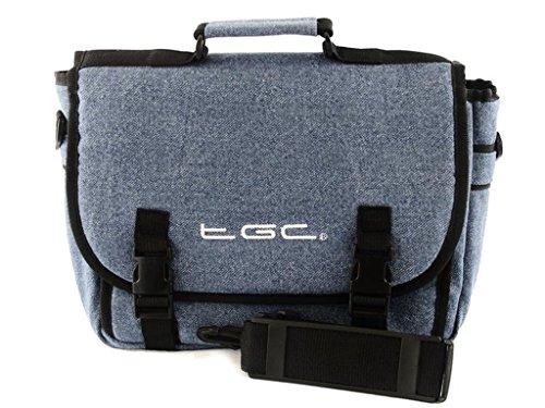 Nieuwe TGC ® Messenger Style TGC gevoerde draagtas voor de Polaroid PDM-0725 draagbare dvd-speler