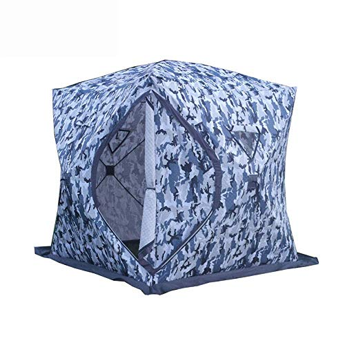 Outdoor Waterproof Tent, Portable Pop-up Camping Tents Warm Outdoor Carry Bag And Removable 4 People Ice Fishing Tent Suitable for Camping (Color : Blue, Size : 240x240x190cm),Eas... for Beach Camping
