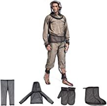 W-ShiG Unisex Bug Jacket Mosquito Suit, Ultra-fine Mesh Hooded Protection Suits Full Body Bug Wear Anti Mosquito Net Repellent Clothing No-See-Ums for Fishing Hiking Camping Gardening