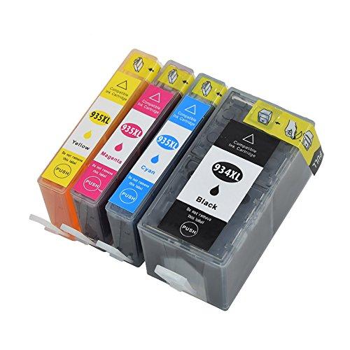 Teland - Cartuchos de tinta compatibles con HP 934 XL 935 XL 934XL 935XL High Yield para HP Officejet 6230 6830 6815 6812 6835 6820 (1 negro, 1 cian, 1 magenta, 1 amarillo)