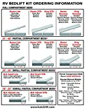 Hatchlift Products RV Bedlift Kit - King – Heavy King/Particle Board Deck
