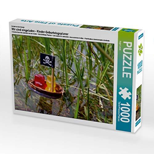 CALVENDO Puzzle Wir sind eingeladen - Kinder-Geburtstagsplaner 1000 Teile Lege-Größe 64 x 48 cm Foto-Puzzle Bild von Ingo Laue