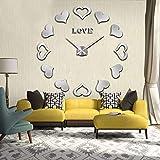 N/ A patrón de Amor Reloj de Pared DIY Reloj de Pared decoración del hogar