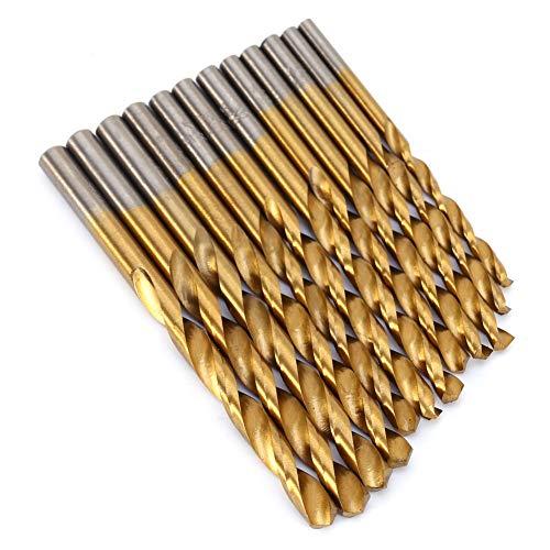 WALFRONT 99Pcs Twist Drill Bit Set Saw Set HSS High Steel Titanium Coated Drill Woodworking Wood Tool 1.5mm-10mm for Metal