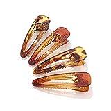 Runmi Pinzas para el pelo coloridas Pasadores de pelo de resina acrílica para el cabello Accesorios para mujeres y niñas (paquete de 4)