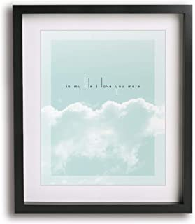 In My Life by The Beatles inspired wedding song lyric art print, romantic first paper anniversary gift idea