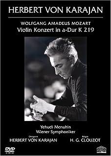 カラヤン / クルーゾー 指揮の芸術 I モーツァルト:ヴァイオリン協奏曲第5番イ長調K.219《トルコ風》 [DVD]