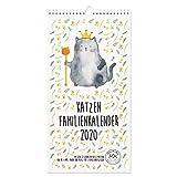 Mr. & Mrs. Panda Familienplaner, 2020 Familienkalender, Familienkalender 2020 Katze Collection mit Spruch - Farbe