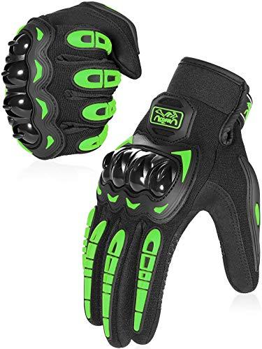 COFIT Guantes de Motos, Guantes de Pantalla Táctil Full Touch para Carreras de Motos, MTB, Escalada, Senderismo y Otros Deportes al Aire Libre - Verde M