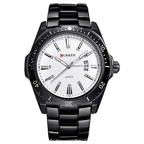 Relojes para Hombres Relojes Deportivos para Hombre de Marca Relojes de Cuarzo Dorados de Acero Completo Fecha para Hombres Relojmilitar Impermeable Hombre relogio Masculino