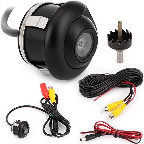 DressU Robusto 360 Grados HD CCD CA Coche Vista Posterior Visión Nocturna inversa IP67 Equipo Auxiliar de vehículo de vehículo de vehículo a Prueba de Agua (Voltaje: 12V) Resistente (Size : 12V)