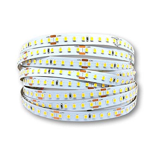Tira LED de 1 – 5 metros + acortable + adhesivo 3M 19,2 W/m 24 V tira LED 4000 K blanco neutro & 160 LEDs/m cinta LED con 3072 lm/m + IP20, 2 m